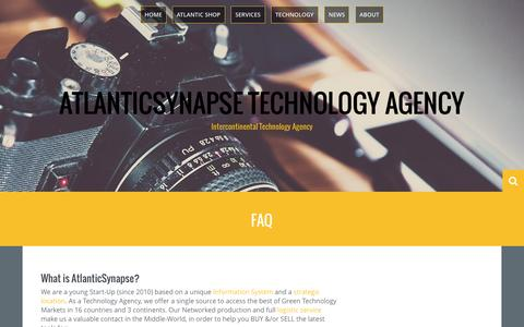 Screenshot of FAQ Page atlanticsynapse.com - FAQ | AtlanticSynapse Technology Agency - captured Feb. 6, 2016