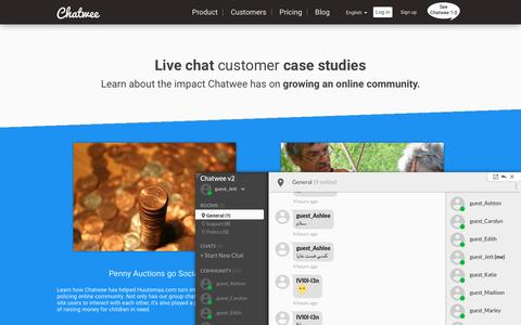 Screenshot of Case Studies Page chatwee.com - Live chat customer case studies | Chatwee - captured April 15, 2017