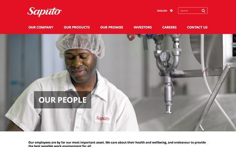 Screenshot of Team Page saputo.com - Our People | Saputo Promise | Saputo - captured Sept. 6, 2018