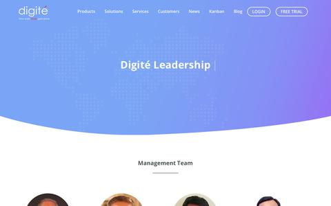 Screenshot of Team Page digite.com - Our Founders & Management Team - Digité - captured Nov. 17, 2018