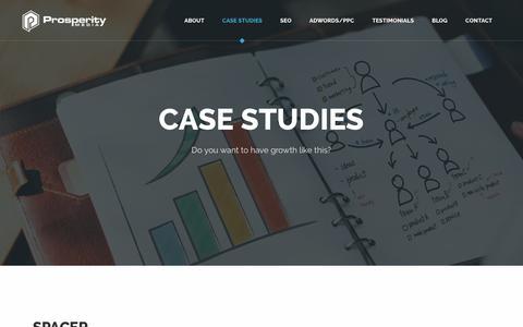Screenshot of Case Studies Page prosperitymedia.com.au - Case studies - High Quality SEO Agency Sydney - Prosperity Media - captured July 23, 2018