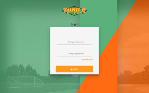 Screenshot of Login Page turn2sportsconsulting.com - Login – Turn 2 Sports Consulting - captured June 17, 2017