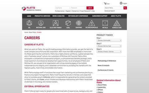 Screenshot of Jobs Page platts.com - Platts Careers, Opportunities, Editorial, Energy Jobs - Platts - captured Dec. 10, 2015