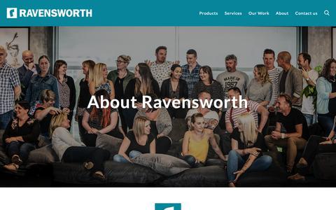 Screenshot of About Page ravensworth.co.uk - About - Ravensworth - captured Dec. 15, 2018