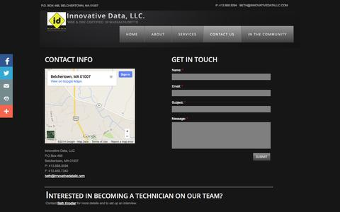 Screenshot of Privacy Page Contact Page innovativedatallc.com - Contact Us - captured Oct. 23, 2014