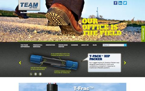 Screenshot of Home Page teamoiltools.com - Drilling Production Tools & Well Completion Services - captured Oct. 7, 2014