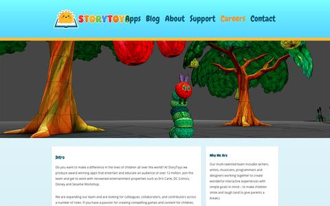 Screenshot of Jobs Page storytoys.com - StoryToys™ Kid's Games & Apps   Careers & Available Jobs - captured Oct. 13, 2018