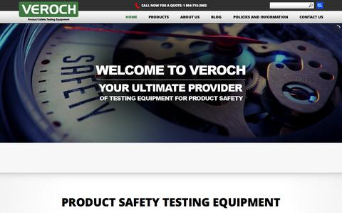 Screenshot of Privacy Page veroch.com - Glow Wire|Frequency converter|Product Safety|IP|IEC Testing Equipment - captured July 3, 2015