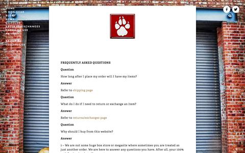 Screenshot of FAQ Page dogstrong.com - FAQ Ń DOGSTRONG - Your one source for everything DOG - captured Dec. 5, 2015