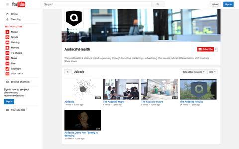 AudacityHealth  - YouTube