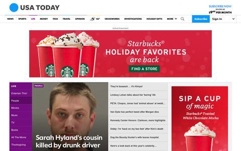 Screenshot of Team Page usatoday.com - Celebrity Photos, Videos and Interviews - USATODAY.com - captured Dec. 4, 2018