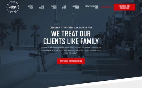 Screenshot of Home Page thesimonlawgroup.com - Homepage - Simon Law Group - captured Nov. 10, 2018