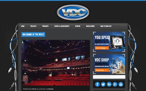 Screenshot of Blog vdctrading.com - Van Damme at 'The Wells' - The Latest From Inside VDC - VDC Trading News - captured Oct. 29, 2014