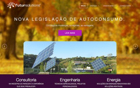 Screenshot of Home Page futursolutions.pt - Início - Futursolutions - captured Sept. 30, 2014