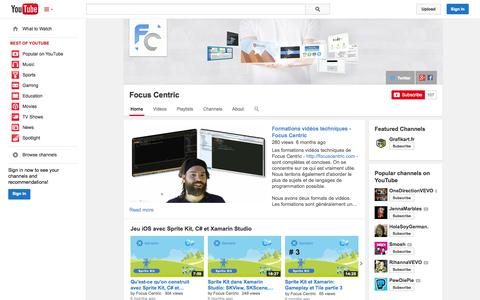 Screenshot of YouTube Page youtube.com - Focus Centric  - YouTube - captured Oct. 25, 2014