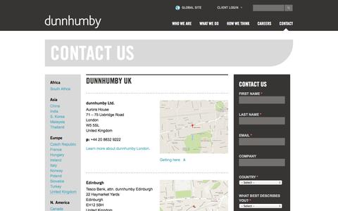 Contact Us | dunnhumby.com