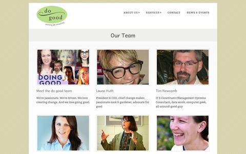 Screenshot of Team Page dogoodconsulting.org - Our Team - do good Consultingdo good Consulting - captured Jan. 8, 2016