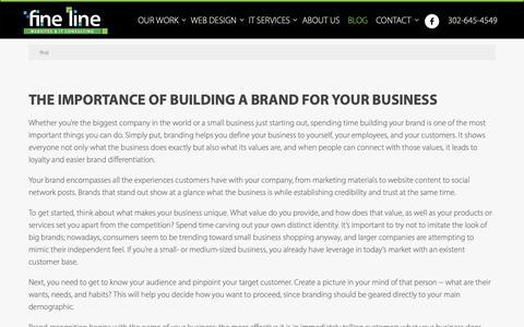 Screenshot of Blog finelinewebsites.com - Updates on Your Delaware Website Designers & IT Consulting - captured Oct. 10, 2018
