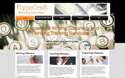 Screenshot of Home Page typecraftwriting.com - TypeCraft Writing--Your professional writing coach - captured Aug. 16, 2016