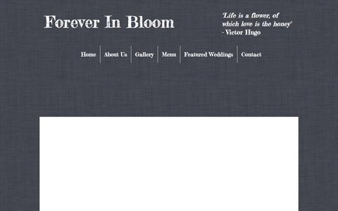 Screenshot of Menu Page foreverinbloomonline.com - Forever In Bloom, Floral Decorators, Mt. Kisco, NY 10549   Menu - captured Jan. 21, 2017