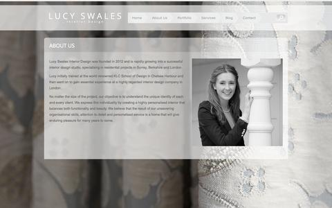 Screenshot of About Page lucyswales.com - About Us | Lucy Swales Interior Design - captured Nov. 2, 2014