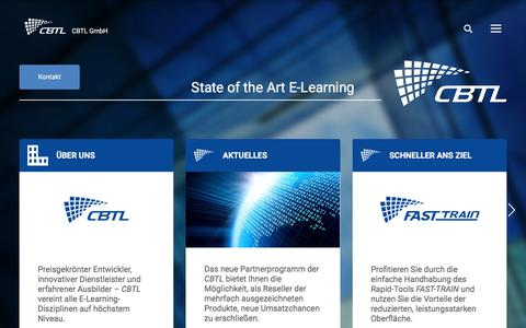Screenshot of Home Page cbtl.de - CBTL GmbH - State of the Art E-Learning - captured July 7, 2017