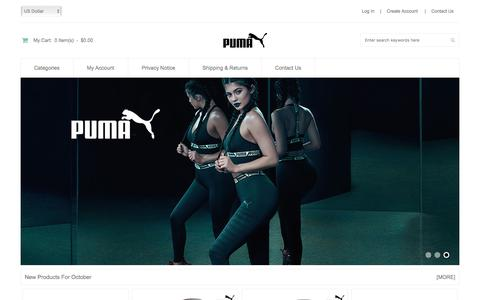 Screenshot of Home Page bodyandsoltucson.com - Puma Trainers Outlet, Puma UK Cheap Sale Online Store - captured Oct. 10, 2017