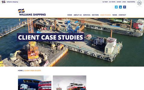 Screenshot of Case Studies Page williams-shipping.co.uk - Client Case Studies | Williams Shipping - captured Nov. 6, 2017