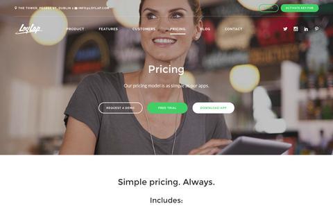 Screenshot of Pricing Page loylap.com - Best Pricing - captured Dec. 4, 2015
