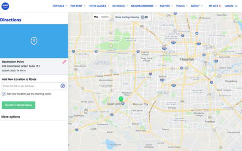 Screenshot of Maps & Directions Page har.com - Map Directions - HAR.com - captured Oct. 20, 2018