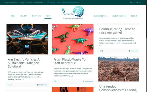 Screenshot of Press Page contented.net - News – Contented - captured Sept. 29, 2018