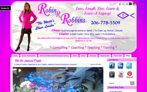 Screenshot of Blog robinrobbins.com - Robin R. Robbins: The Worlds Cheer Leader | Inspiring & Empowering You to Live YOUR BEST LIFE! - captured Oct. 26, 2014
