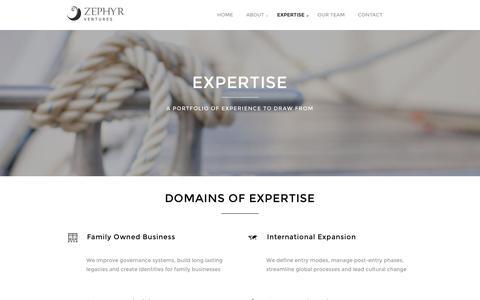 Screenshot of Case Studies Page zephyrventures.com - Expertise   Zephyr Ventures - captured Aug. 11, 2016