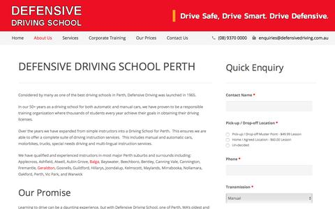 Screenshot of About Page defensivedriving.com.au - Defensive Driving School Perth - Defensive Driving - captured July 5, 2017