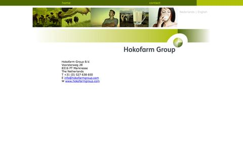 Screenshot of Contact Page hokofarmgroup.com - Hokofarm Group - captured Nov. 2, 2014