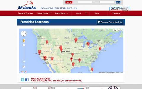 Screenshot of Locations Page skyhawks.com - Kids Sports Camps & Clinics | Locations - captured Jan. 16, 2016