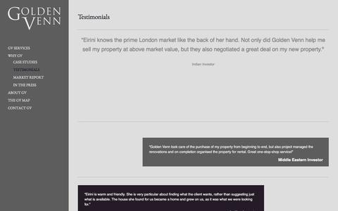 Screenshot of Testimonials Page golden-venn.com - Golden Venn |  Testimonials - Golden Venn - captured July 16, 2016