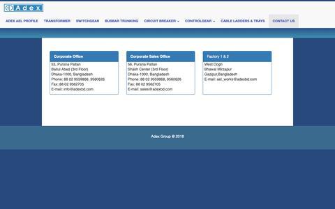 Screenshot of Contact Page adexbd.com - Adexbd - captured Oct. 3, 2018