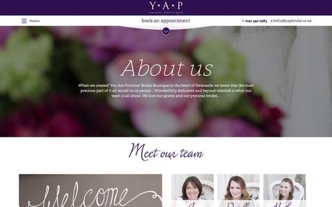 Screenshot of Team Page yapbridal.co.uk - Our Fabulous team of Wedding Dress Specialists in Newcastle - captured Nov. 17, 2016