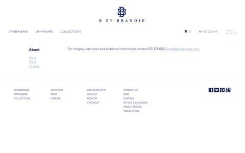 Screenshot of Press Page bbybrandie.com - Press | B by Brandie - captured Sept. 27, 2014