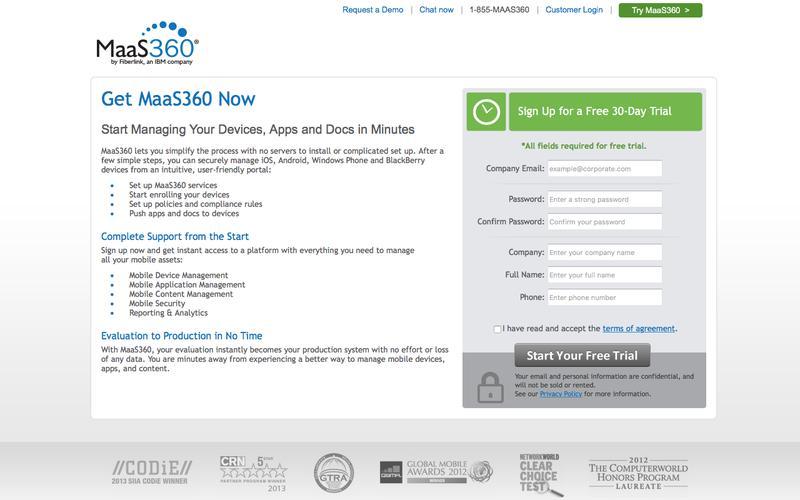 Get MaaS360 Now   MaaS360 by Fiberlink