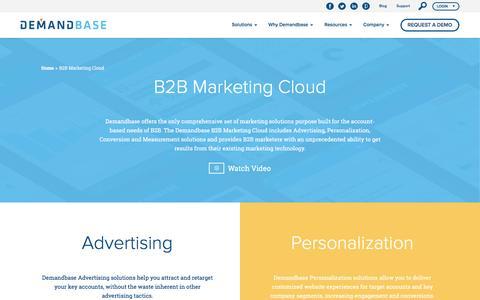 B2B Marketing Cloud Platform :: Demandbase