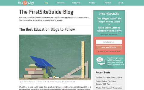 Screenshot of Blog firstsiteguide.com - Blog | First Site Guide - captured Aug. 4, 2016