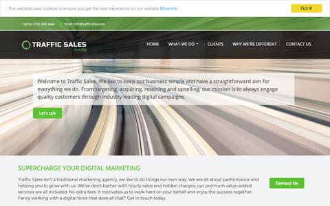 Screenshot of Home Page trafficsales.com - Traffics Sale | PPC and Media Buying - captured Oct. 19, 2018