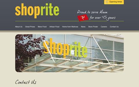 Screenshot of Contact Page manxshoprite.com - Contact Us » Shoprite - captured May 26, 2017