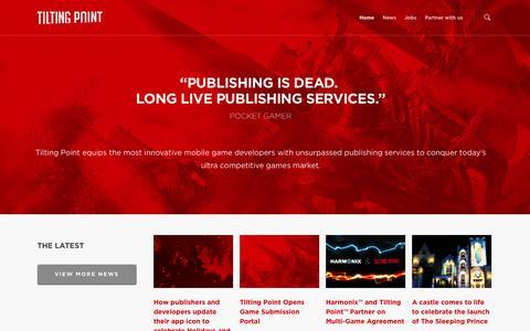 Screenshot of Home Page tilting-point.com - Tilting Point – Independent Games Partner - captured Jan. 23, 2015