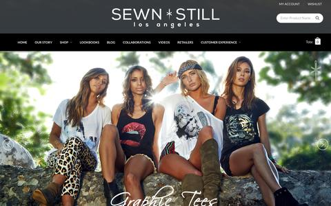 Screenshot of Home Page sewnstill.com - Sewn Still LA | High-end Fashion Apparel Los Angeles - captured Jan. 19, 2016