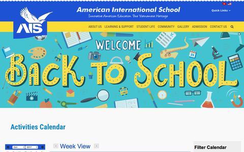 Screenshot of About Page ais.edu.vn - American International School Vietnam   About Us - captured Oct. 8, 2017