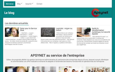 Screenshot of Home Page apsynet.fr - Apsynet-Editeur de logiciels de gestion en entreprise - captured May 28, 2017