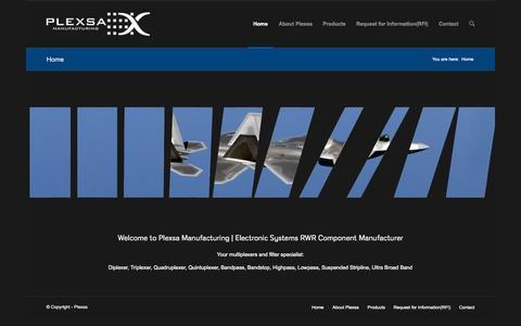 Screenshot of Home Page plexsa.com - Home - Plexsa - captured Sept. 19, 2015